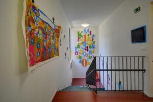 Královská školka schodiště